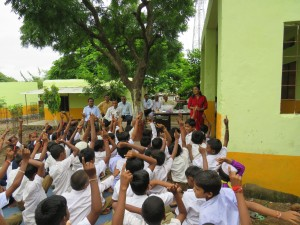 LI-EPO at ZP school Dudhala